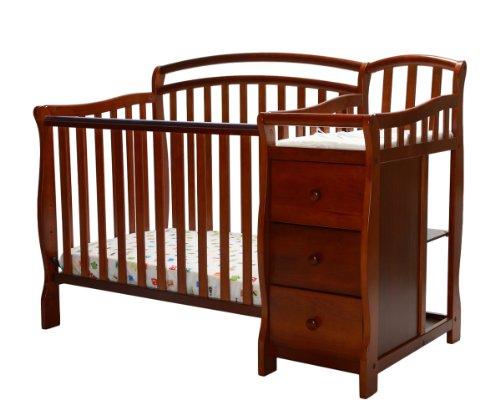 Dream On Me Casco 4 in 1 Mini Crib and Dressing Table Combo, Espresso