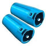 SkyQ RC Aluminum Rear Cup Axle Lockout for AXIAL SCX10 AX10 AX80020 Parts Blue 2pcs