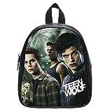Custom Teen Wolf Small Black Backpack Kid's School Bag Student Shoulder Bag