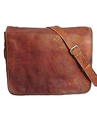 "Handmade Bags By Nistulaa | 13"" Full Flap Leather Messenger Bags | Genuine Leather Messenger Bag"