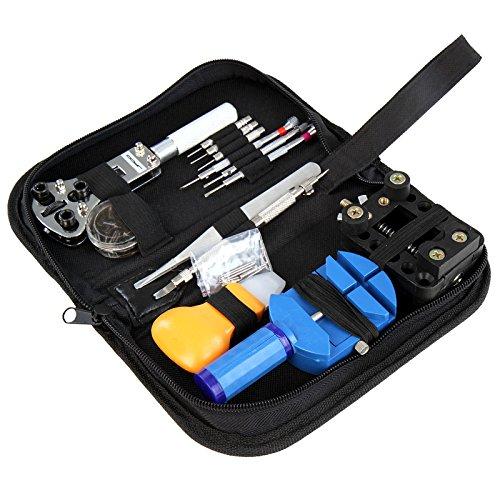 Jago - Set de 30 outils pour réparation de montres - avec étui