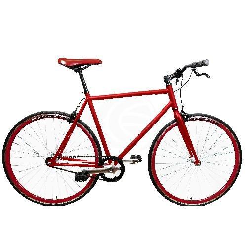 Bicicleta fixie roja talla M para altura 160 a 175cm - Cablematic