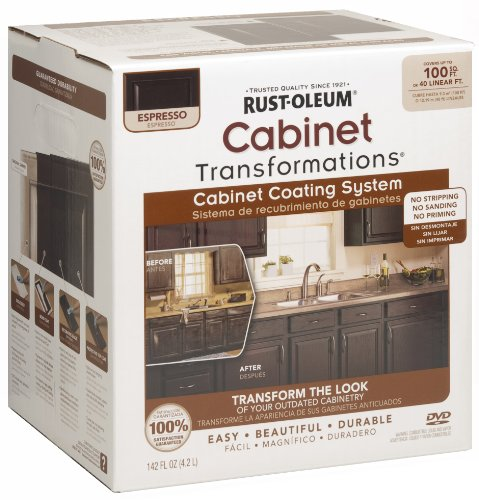 rustoleum kitchen cabinet kit rust oleum cabinet transformations small kit espresso 5031