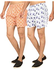 Truccer Basics Mens Printed Cotton Boxers Pack Of 2