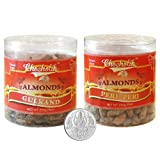 Chocholik Dry Fruits - Almonds Gulkand & Peri Peri With 5gm Pure Silver Coin - Gifts For Diwali - 2 Combo Pack