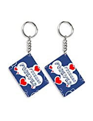 Gift For Friend & Friendship Day Gift Set Of 2 Keychain Design 4