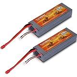 2 X Floureon 2 S 7.4 V 5200m Ah 30 C (Deans Plug) Li Polymer Rechargeable Battery Rc Battery Pack 140*48*25mm...