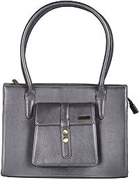 Stitch & Turn Women Handbag (Silver, AHC_silver)