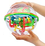 100 Steps Small Big Size 3D Labyrinth Magic Rolling Globe Ball Marble Puzzle Cubes Brain Teaser Game Perplexus Sphere Maze
