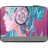 Snoogg Beautiful Side Portrait 2753 12 To 12.6 Inch Laptop Netbook Notebook Slipcase Sleeve