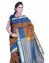 Pure Silk Kanjeevaram Hand Woven Saree-Multicolor-SAB...