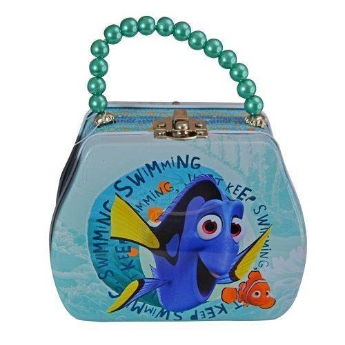 Finding Dory Purse Shaped Tin Box With Beaded Handle & Clasp