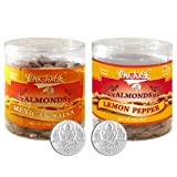 Chocholik Dry Fruits - Almonds Mexican Salsa & Lemon Pepper With 5gm X 2 Pure Silver Coins - Diwali Gifts - 2...