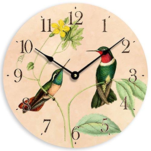Vintage Hummingbirds Wall Clock