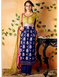 MAGNIFICENT PURE COTTON SATIN STRAIGHT CUT STYLE SUIT WITH PURE BAMBERG CHIFFON DUPATTA