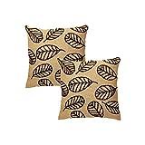 Rajrang Brown Jute Embroidered Cushion Cover Set Of 2 Pcs #Ccs05901
