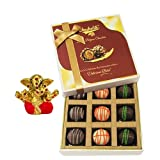 Chocholik Belgium Chocolates - 9pc Ultimate Assorted Collection Of Chocolate With Small Ganesha Idol - Gifts For...