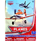 """Disney PLANES Temporary Tattoos """"From Above The World Of Cars"""" (50 Count)"""