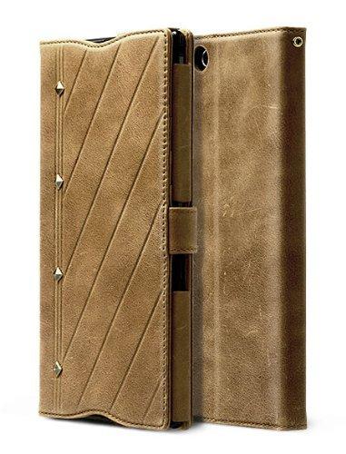 au Xperia Z Ultra SOL24 レザーケース 本革 Zenus Prestige Neo Vintage Diary 手帳型 ビンテージブラウン FM3070XZUS