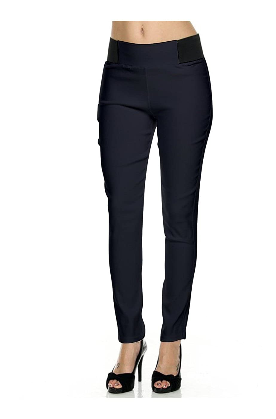 2LUV Women's Stretch Skinny Dress Pants
