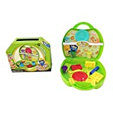 Happy Kids 16-Piece Colorful Play Dough Kit - Green (Green)