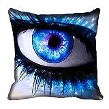 MeSleep Blue Eyes Digitally Printed Cushion Cover (16x16)