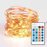 Premium 100 LED String Lights - Warm White Decorative Starry Lights - Perfect For Weddings, Dancing, Party Atmosphere...