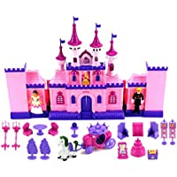 VT My Beautiful Castle 34 Toy Doll Playset W/ Lights, Sounds, Prince And Princess Figures, Horse Carriage, Castle...