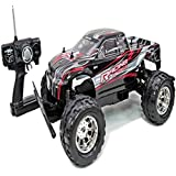 """20"""" Rc 4 Wd Big Wheely Monster Truck 1/8 Scale Rtr Radio Control Car High Speed Black"""