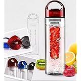 700ml Red Cap Fruit Infusing Infuser Water Bottle Sports Health Lemon Juice Make Bottle