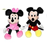Combo Of Mickey Minnie Soft Toy (Size - 22 Cms)