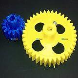 Plastic Spur Gear Pair 38 Teeth And 15 Teeth (inner 6 Mm Dia) - KG322
