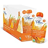 Plum Organics Second Blends Hearty Veggie Meal, Butternut Squash Carrot And Chickpea, 3.5 Ounce (Pack Of 12)