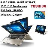 "Newest Toshiba 2-in-1 Satellite Fusion High Performance 15.6"" Full HD IPS Touchscreen Laptop, Intel Core I5-6200U..."