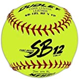 "Dudley NFHS SB 12L Fast Pitch Softball - Red Stitching - 12 Pack, 12""/Yellow"