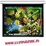 """Luzondzire Screens 188""""Inch Diag. (10 Ft X 12""""Ft) Manual Wall Type Projector Screen, HDTV Format, Matte White..."""
