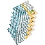 Mycleaningstore Cotton Check Duster, 20 Cm X 20 Cm X 0.5 Cm, White, Set Of 12 - B01BL69JIK