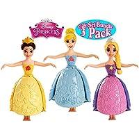 Disney Princess Little Kingdom Petal Float Princess Dolls Cinderella, Rapunzel & Belle Gift Set Bundle - 3 Pack