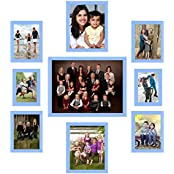 UberLyfe Elegant Blue Photo Frame Collage Collection - Set Of 9 (PF-CLG-BL9P)