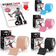 Kinesiology Tape For Athletes By StarkTape. Best Knee Taping Therapeutic Tape For Sports Injuries Shoulder Wrist...