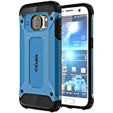 Cubix Defender Dual Layer Shockproof Bumper Back Case Cover For Samsung Galaxy S7 (Blue)
