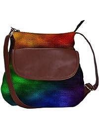Rainbow Rain 2440 Obo, Ethnic Hobo Bag, Aztec Hobo Bag, Native Style Bag, Large Hobo Bag, Zipper Closure Bag,...