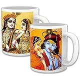 Radha And Krishna_Great Gift For Bhaiya Bhabhi_Set Of Two Mugs