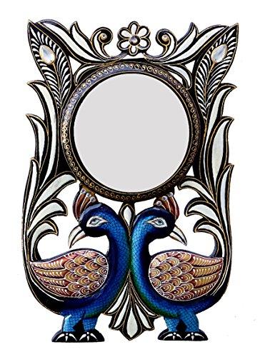 Ghanshyam Art Wood Peacock Wall Mirror (30.48 Cm X 4 Cm X 45.72 Cm, GAC052)