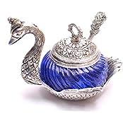 Jaipur Crafts Aluminium, Glass Decorative Platter(Blue)