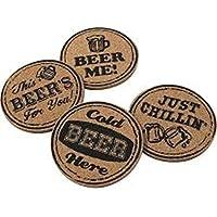 Beer Cork Coaster Set, Set Of 4