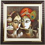 Mumbai Mad Plastic Radha Krishna Frame (7 Cm X 11 Cm X 7 Cm)