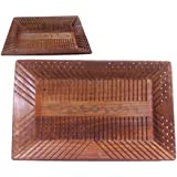 """""""Mothers Day Unique Gift """" Wooden Tray, Wooden Serving Tray , Strip Design 15X 10 In Tray, Kitchen Accessories Multipurpose Tray"""