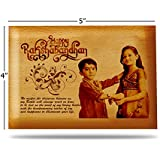 Presto Raksha Bandhan Gift Rakhi Gift Wooden Photo Frame By Engraving Process (4 X 5 Inch)