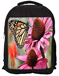 """Snoogg Butterfly In Flower Casual Laptop Backpak Fits All 15 - 15.6"""" Inch Laptops"""